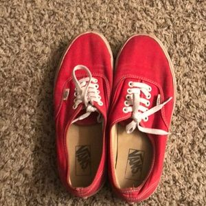 Red vans authentic